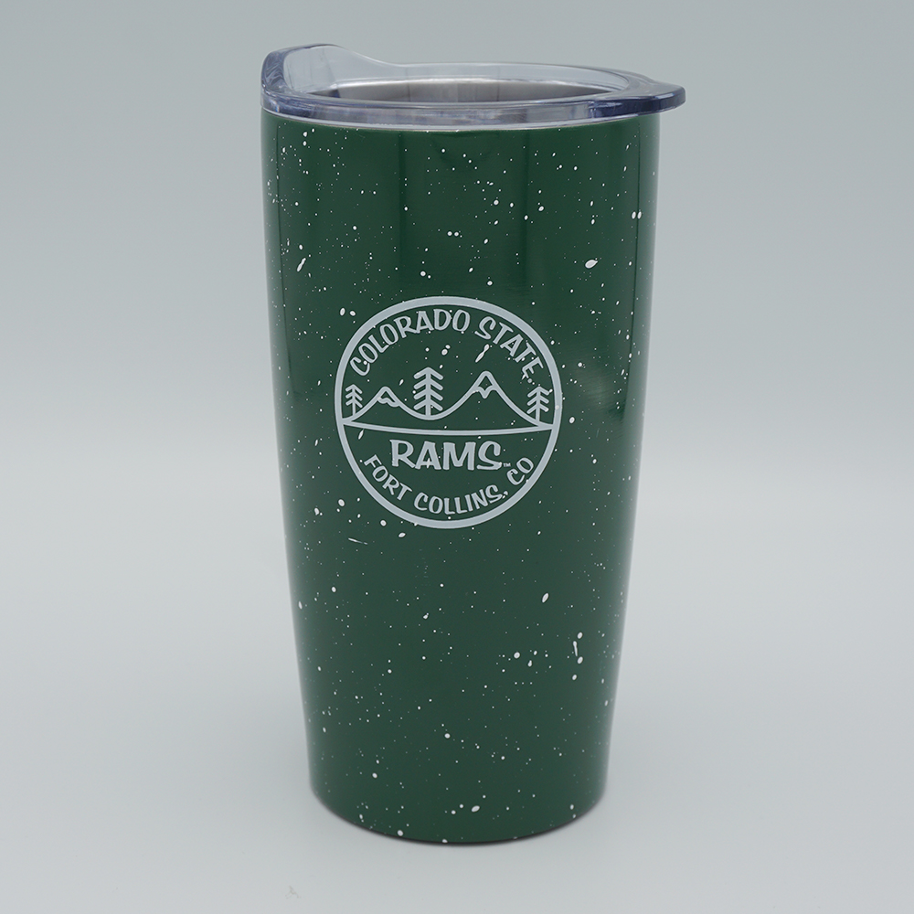 Image For CSU Speckled Forest Green Vacuum Tumbler