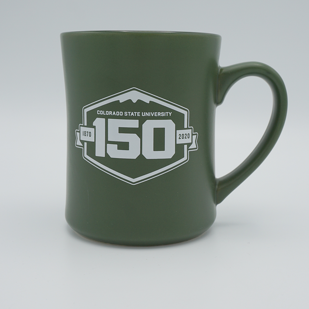 Image For Matte Green Colorado State 150th Anniversary Mug