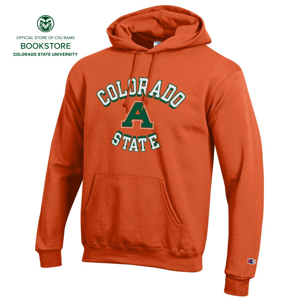 Image For Orange Colorado State Aggies Orange Out Hooded Sweatshirt