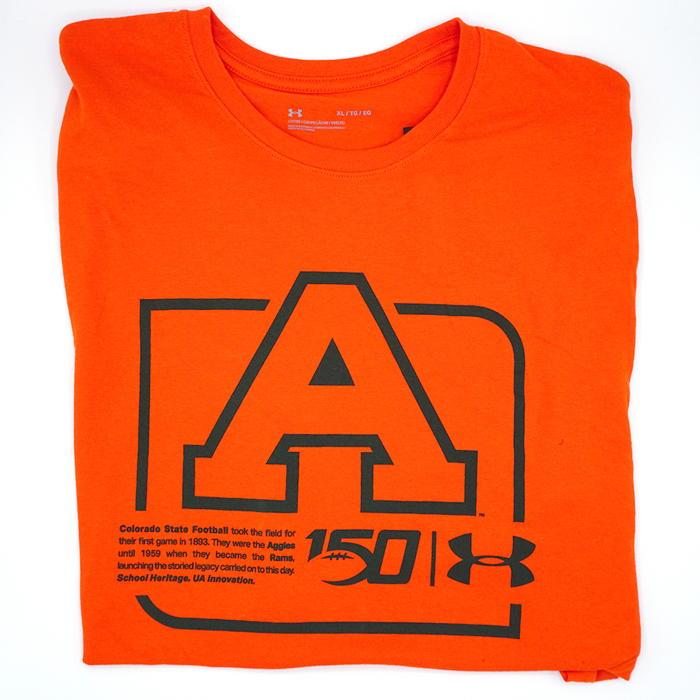 Image For Orange CSU Aggies Heritage Cotton Blend Tee by Under Armour