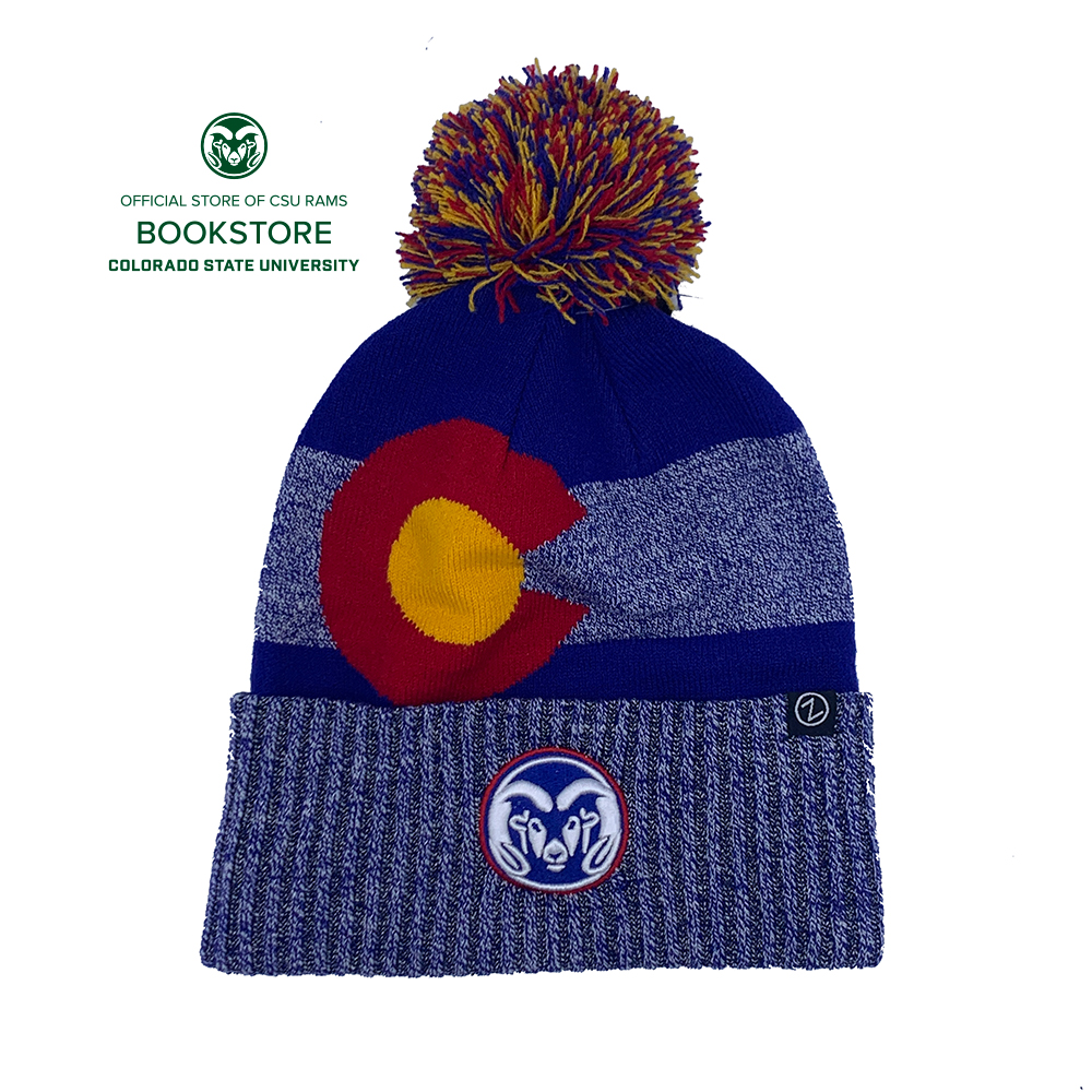 Image For CSU Rams Blue Lodge Pom Knit Cap by Zephyr