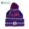 Cover Image for CSU Rams Blue and Red Finish Line Pom Knit Cap by Zephyr