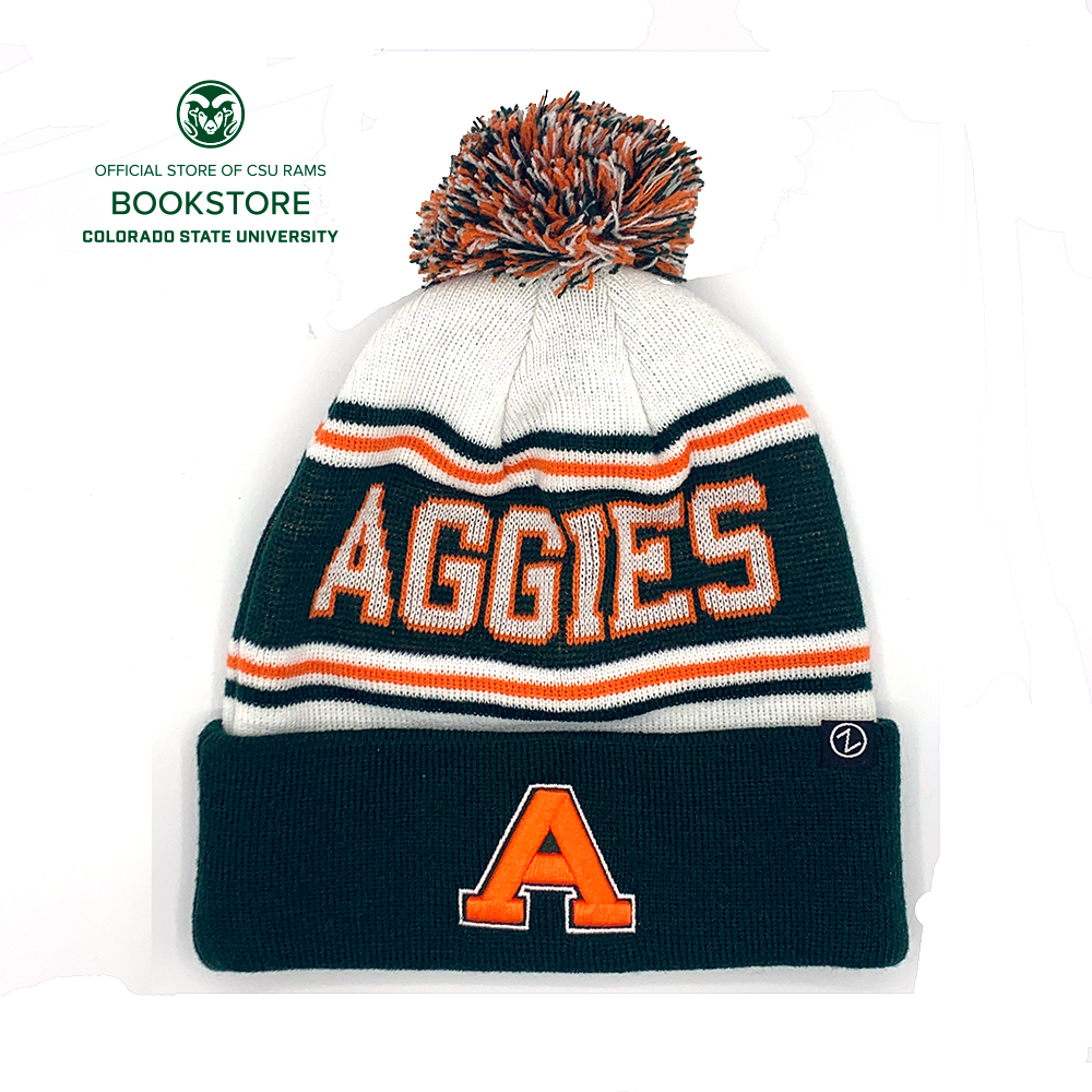 Image For CSU Aggies Finish Line Pom Knit Cap by Zephyr