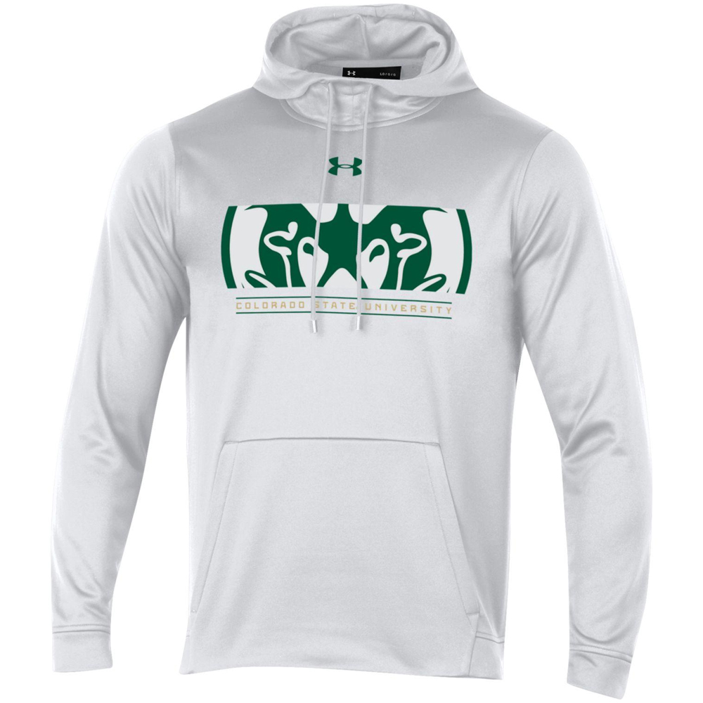 Image For CSU Ram Head Logo Hooded Sweatshirt by Under Armour