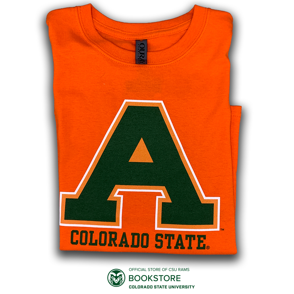 Image For Ouray Orange Colorado State Aggie Youth Tee
