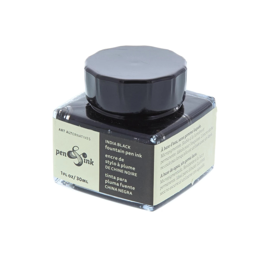 Cover Image For 1 Ounce Black Fountain Pen Ink by Art Alternatives