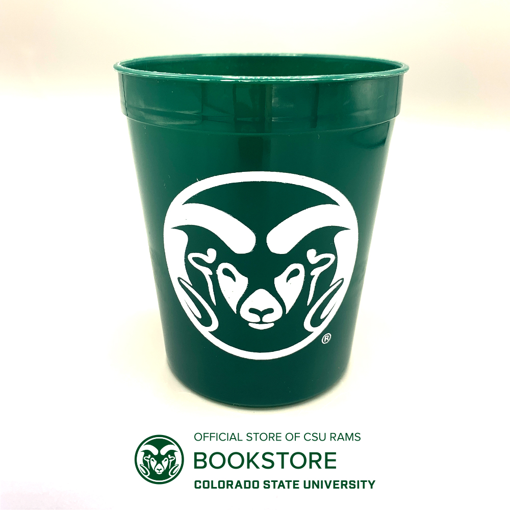 Image For CSU Rams Green Plastic Cup