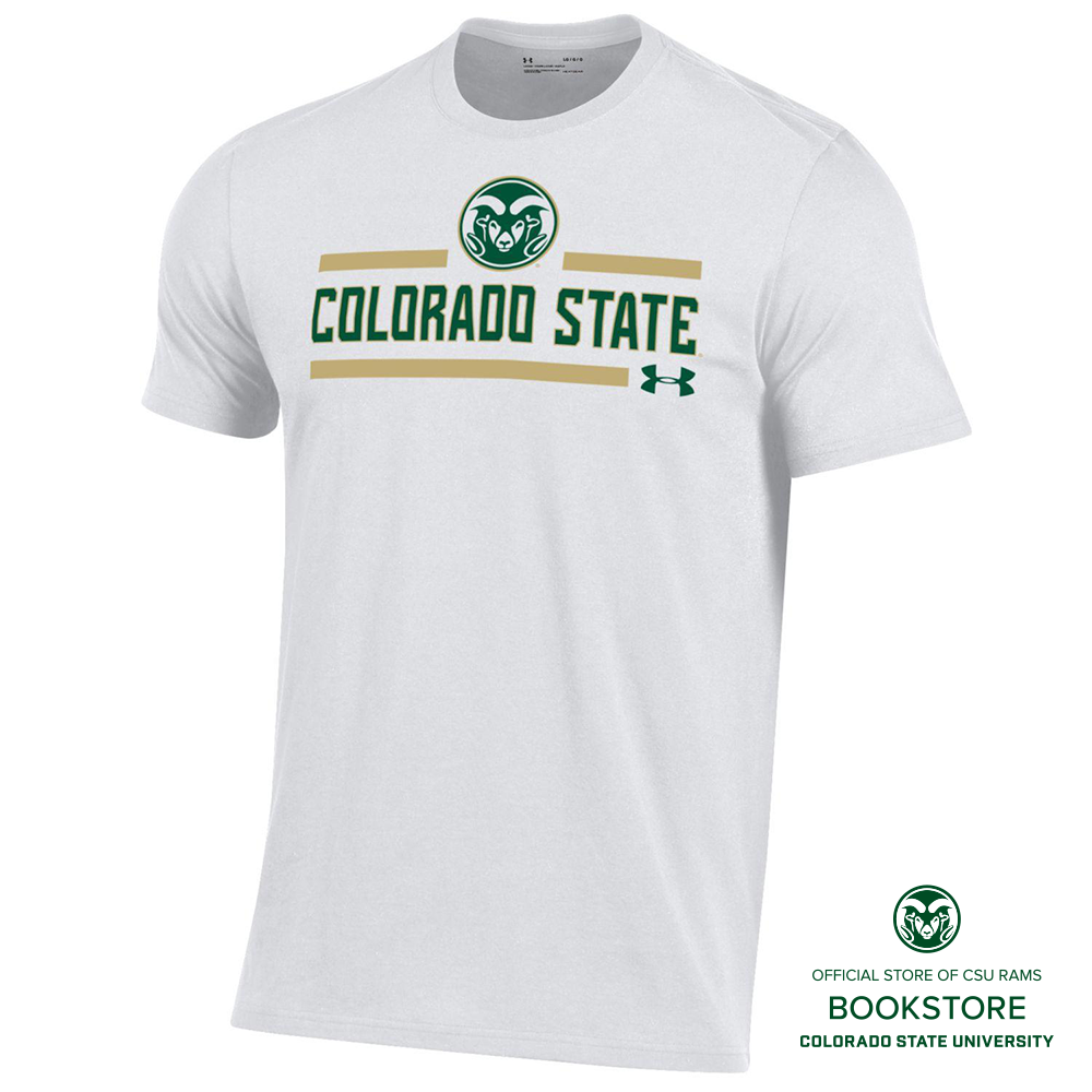 Image For Under Armour CSU Rams White Stripe the Stadium T-Shirt