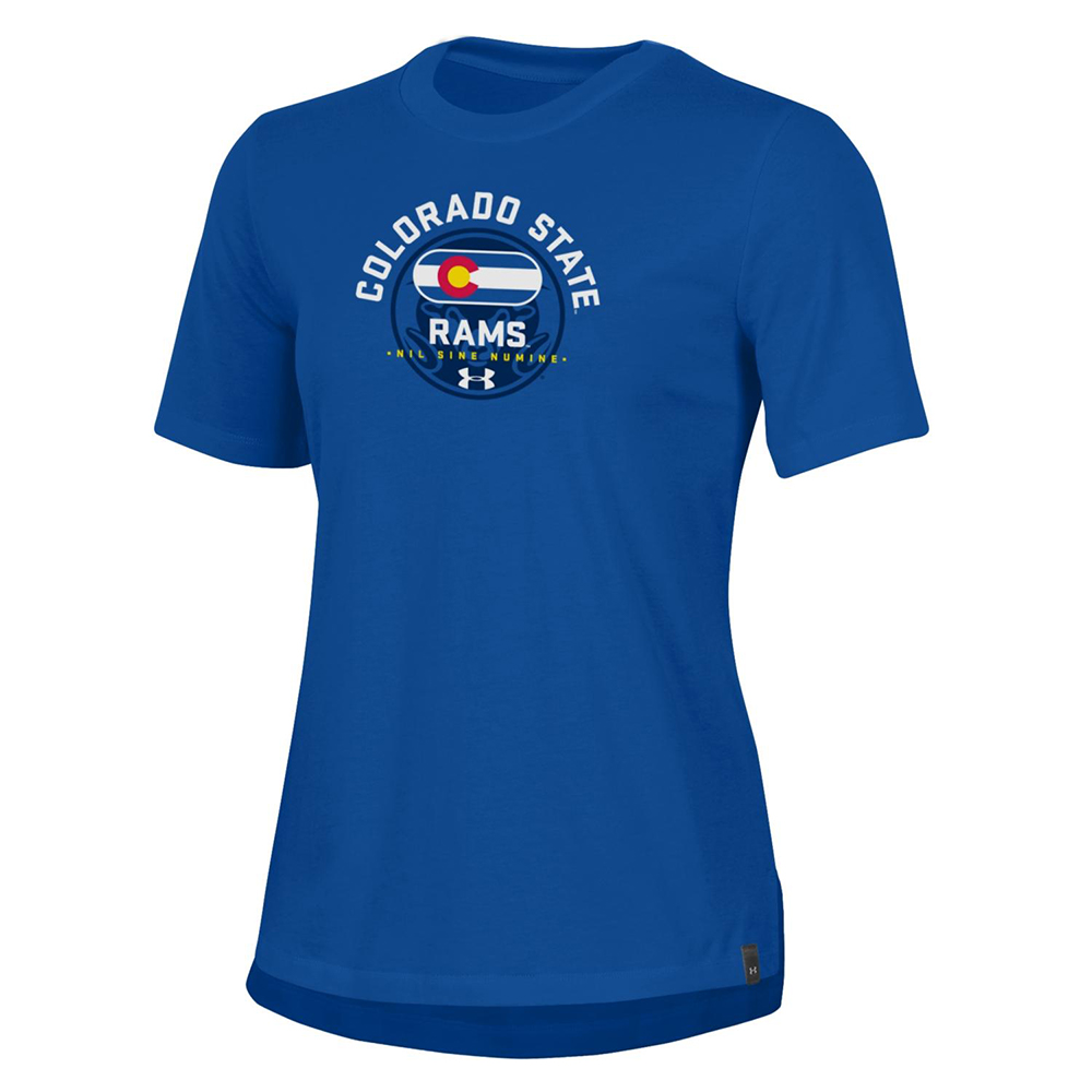 Image For Blue CSU Rams State Motto Woman's T-Shirt by Under Armour