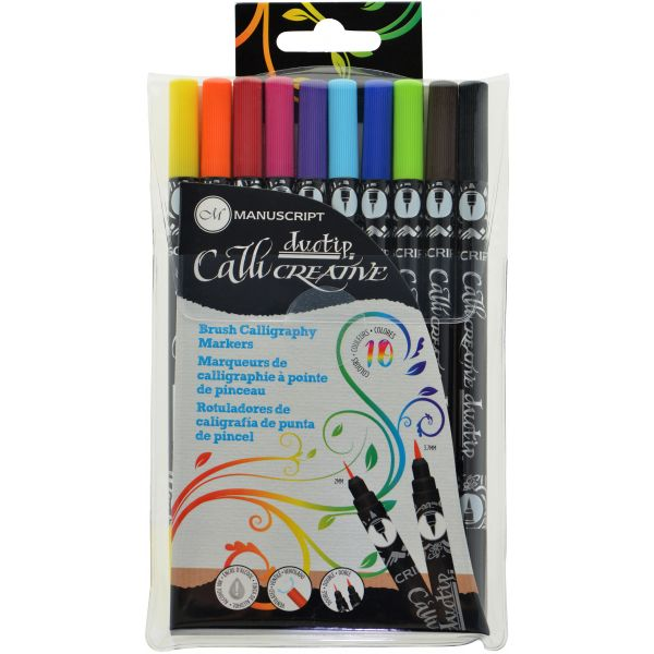 Image For Duotip Brush Calligraphy Markers 10 Color Set by Manuscript