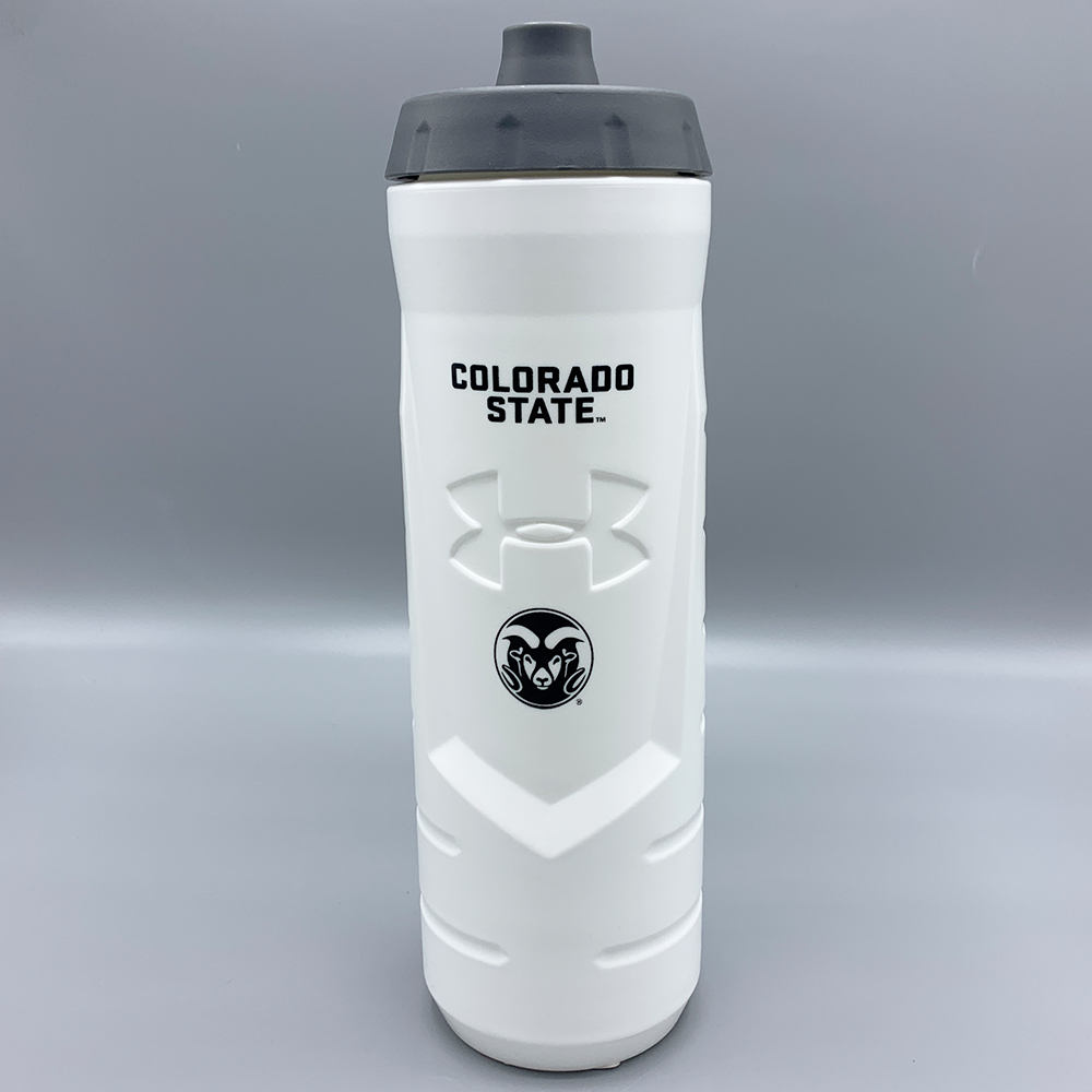 Image For Colorado State White 32oz Squeeze Bottle by Under Armour