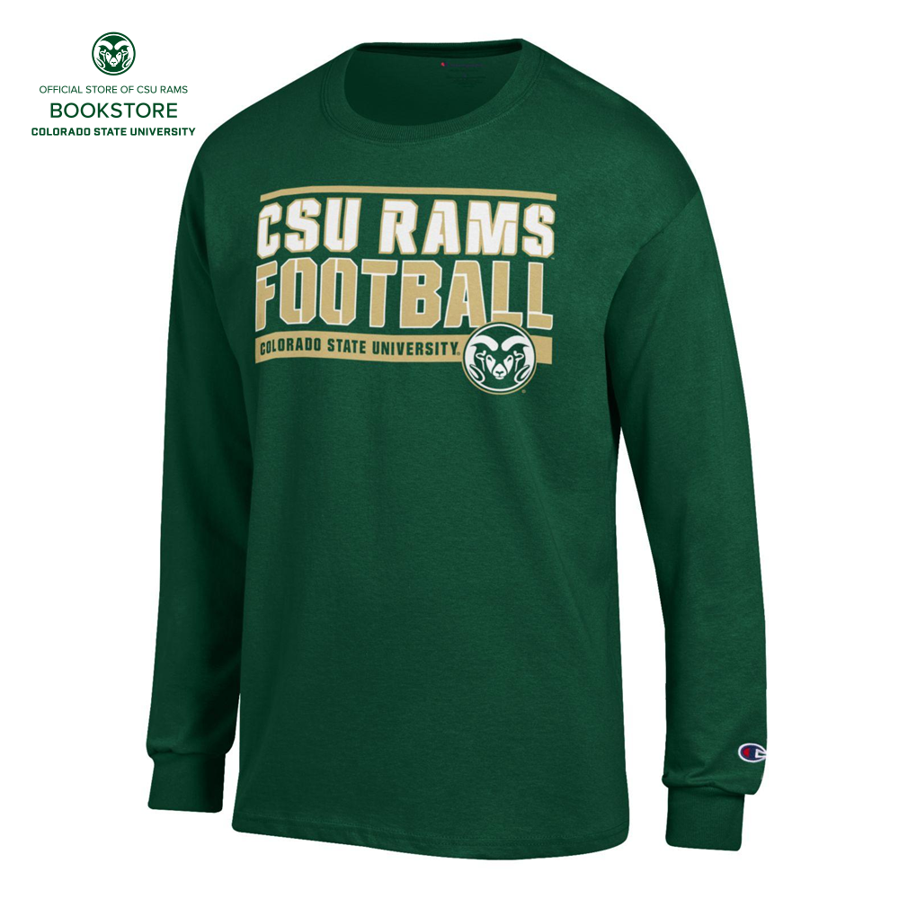 Image For Green CSU Rams Football Long Sleeve by Champion