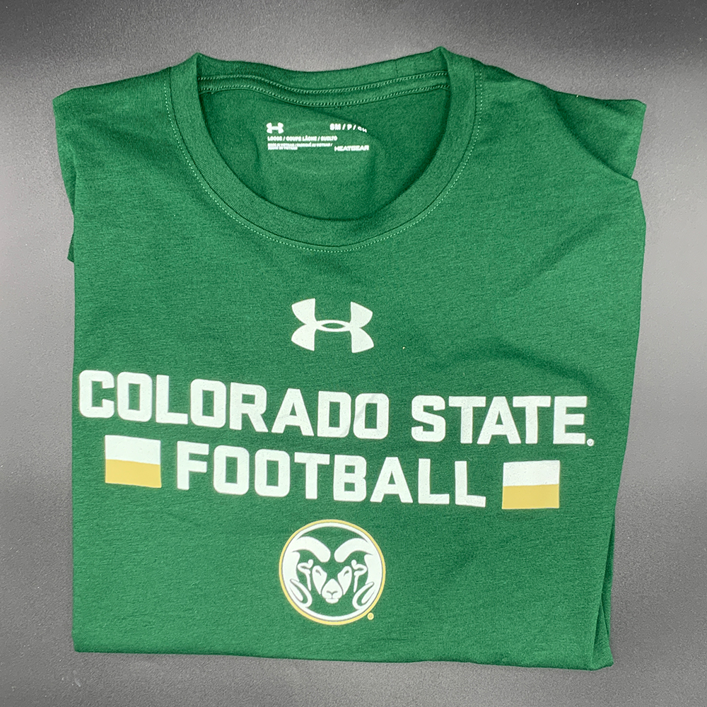 Image For Green Colorado State Football T-Shirt by Under Armour