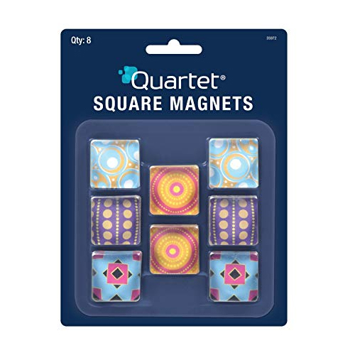 Image For 8 Pack of Square Magnets by Quartet