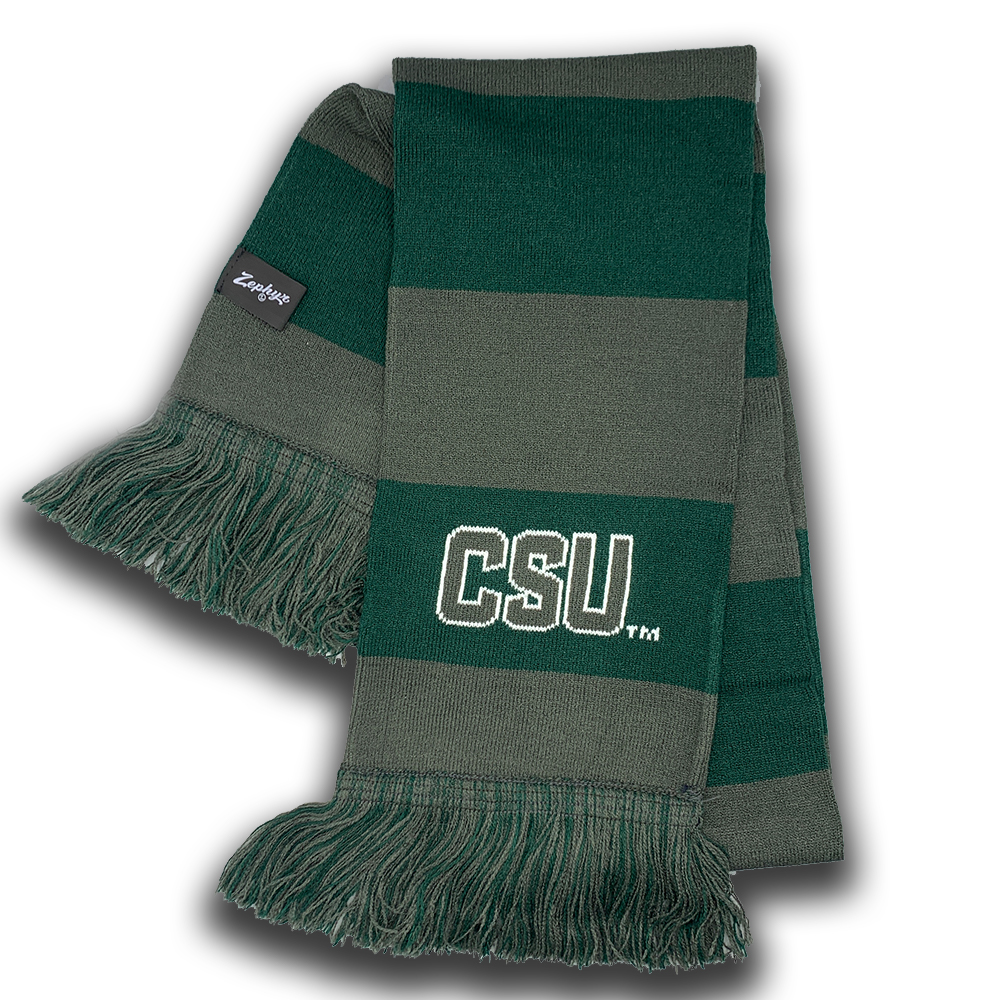 Image For CSU Green and Grey Scarf by Zephyr