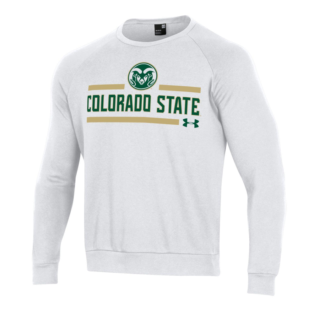 Image For White Colorado State Rams Crew Sweatshirt by Under Armour