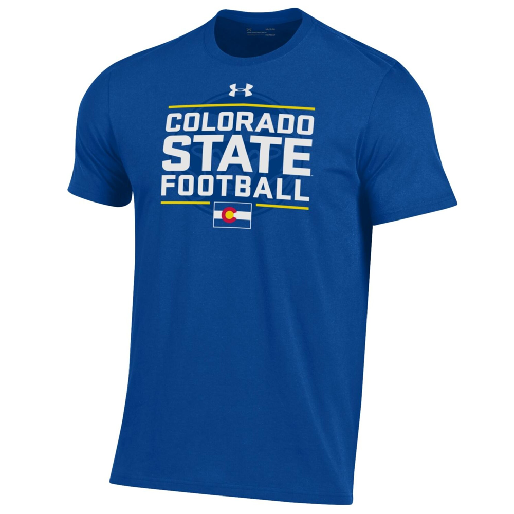 Image For Blue CSU Rams Football State Pride Tee Shirt by Under Armour