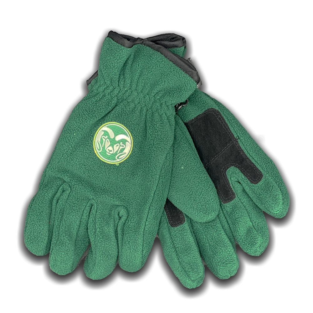 Image For Logofit Medium Colorado State Fleece Gloves