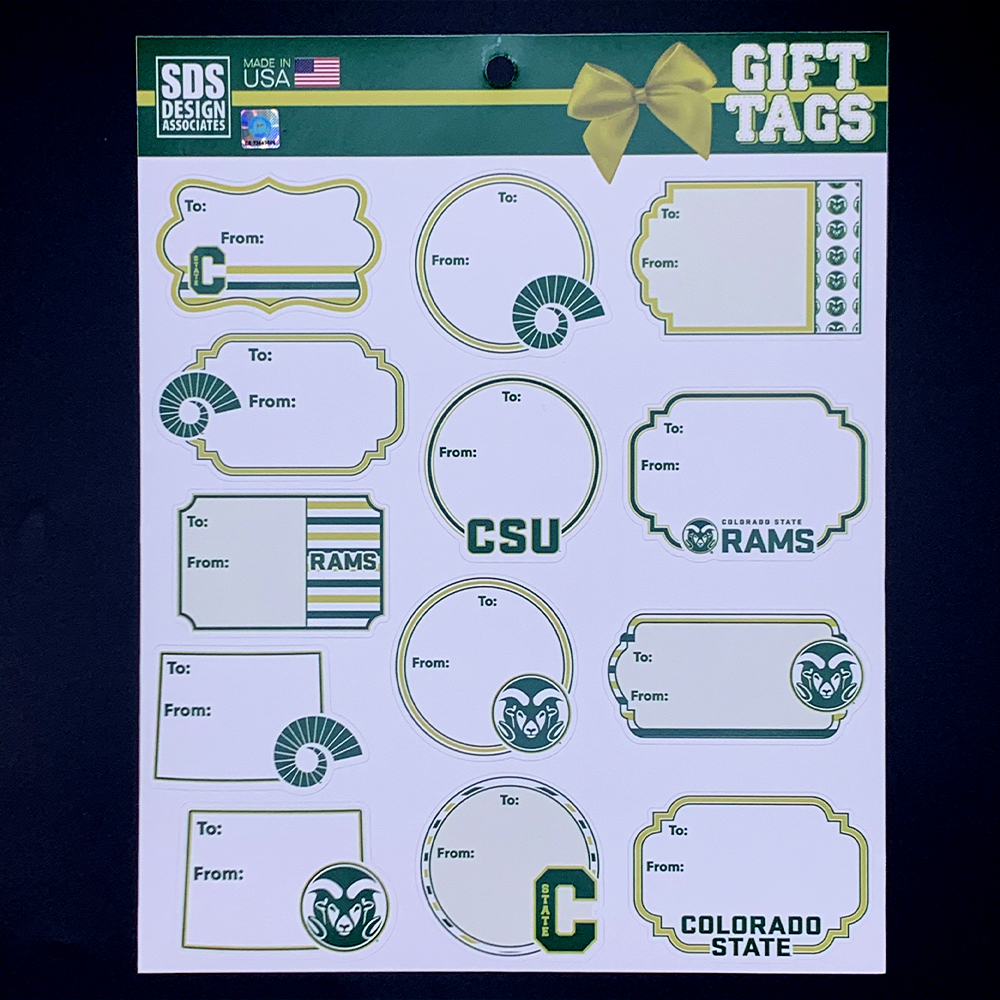 Image For Colorado State University Themed Gift Tags