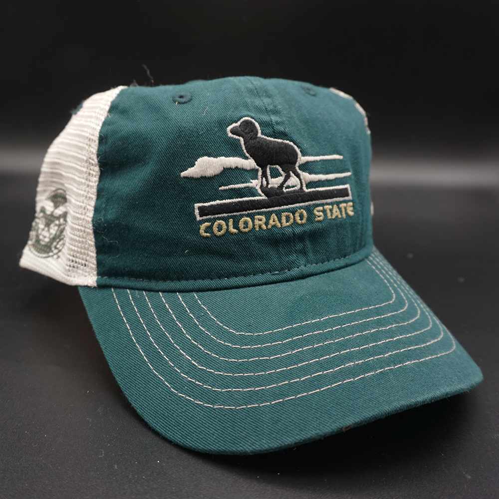 Image For Green CSU Rams Adjustable Mesh Hat by Zephyr