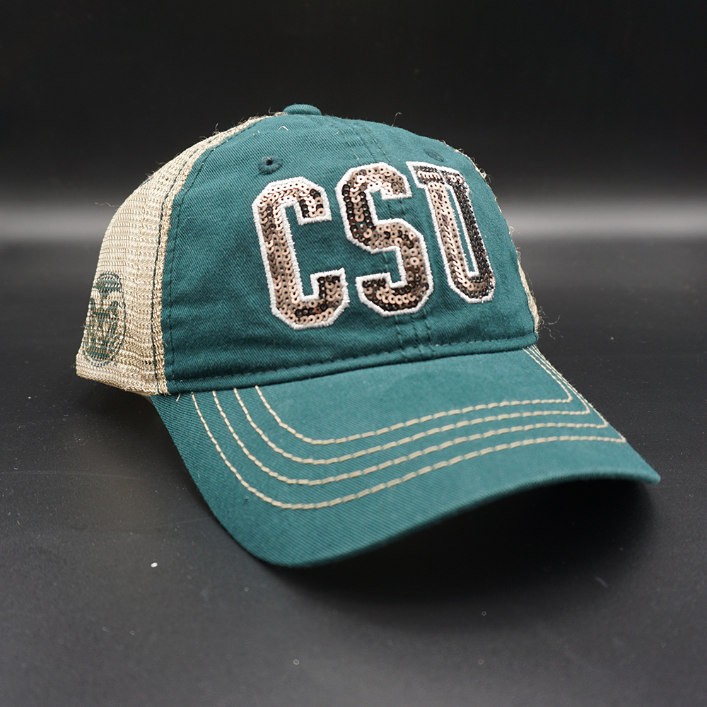 Image For Green and Gold CSU Rams Women's Savvy hat by Zephyr