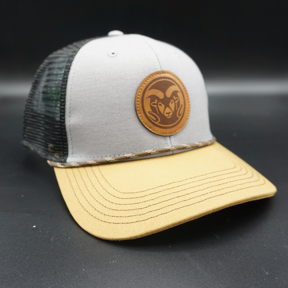 Image For Gray and Caramel CSU Rams Mid-Pro Snapback Hat by Legacy