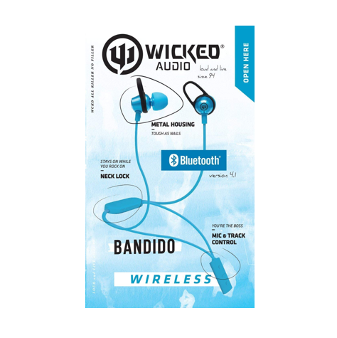 Image For Blue Wireless Bandido Earbuds by Wicked Audio