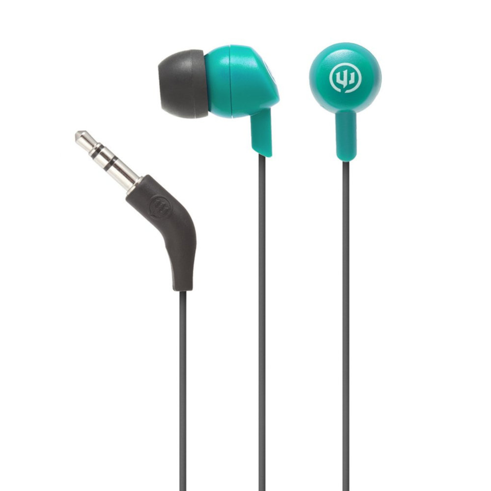 Image For Real Teal Wicked Audio Brawl Wired Earbuds