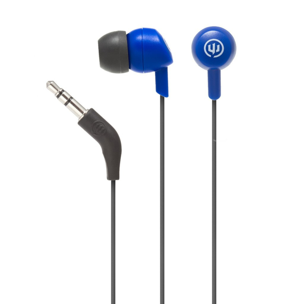 Image For Deep Sea Blue Wicked Audio Brawl Wired Earbuds
