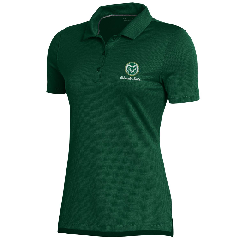 Image For Green Women's CSU Polo by Under Armour