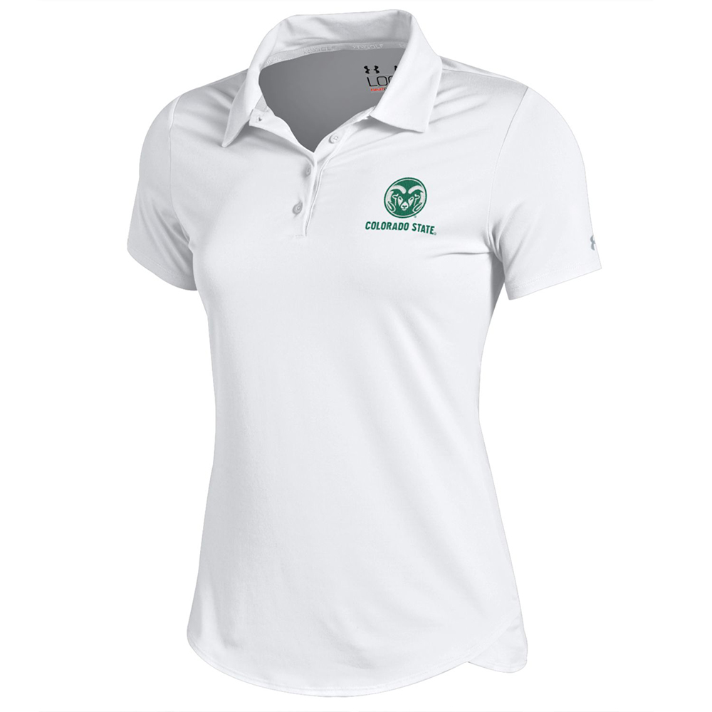 Image For White Women's CSU Polo by Under Armour
