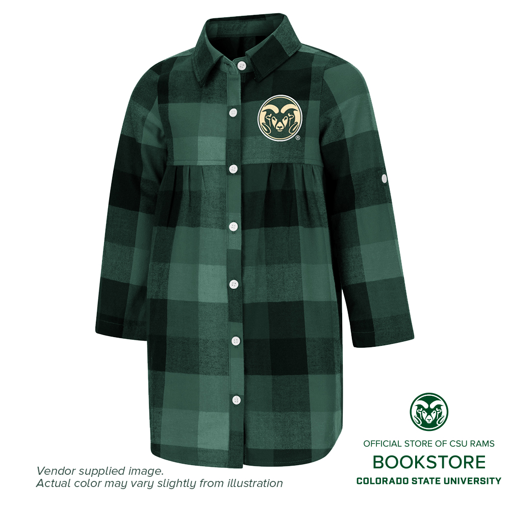 Image For CSU Plaid Toddler Long Sleeve Dress by Colosseum