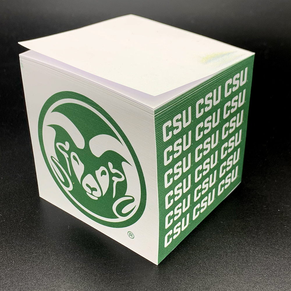 "Image For CSU Ram Head Logo 3"" x 3"" Adhesive Note Pad"