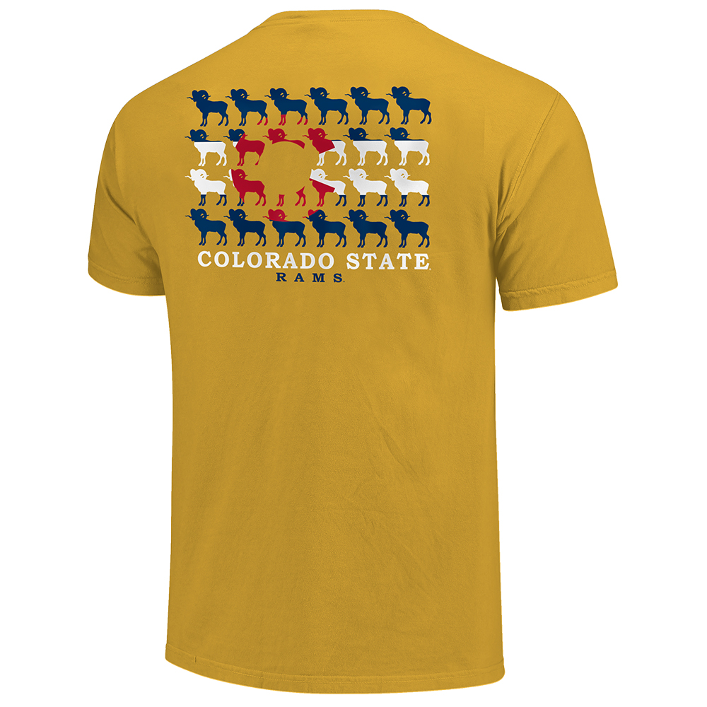 Image For Mustard Rams Flag Design T-Shirt by Image One