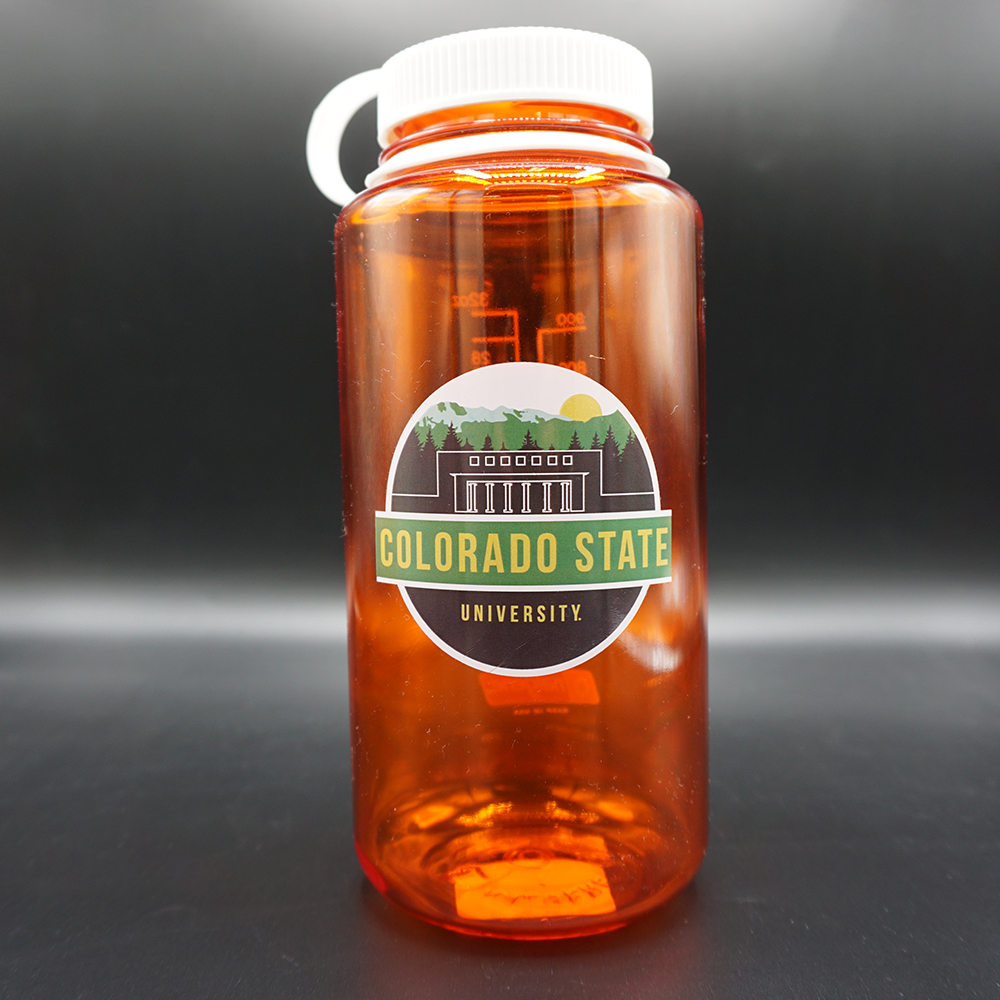 Image For Orange Nalgene Scenic Circle Water Bottle