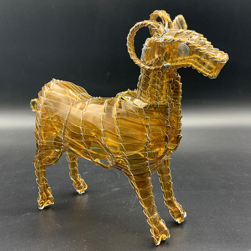 Image For Handmade Recycled Plastic CSU Ram Sculpture by Zimbo Arts