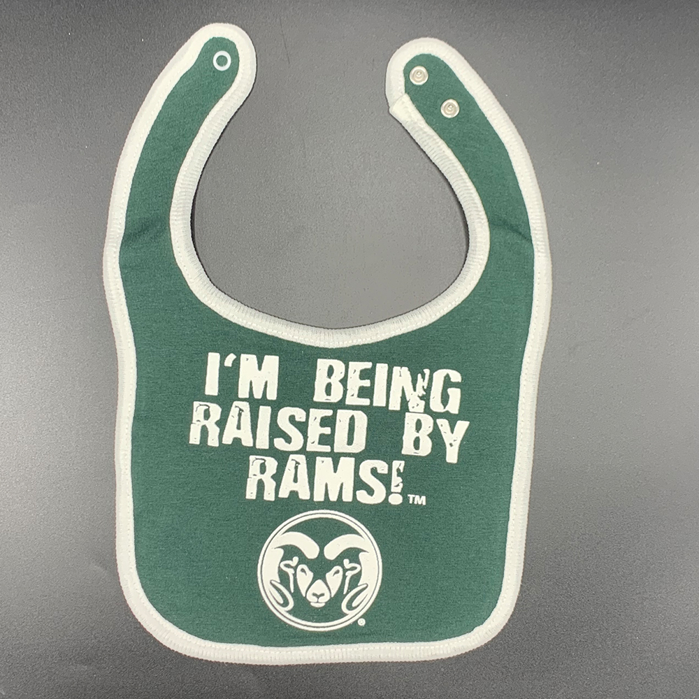 Image For CSU Raised By Rams Bib by Third Street