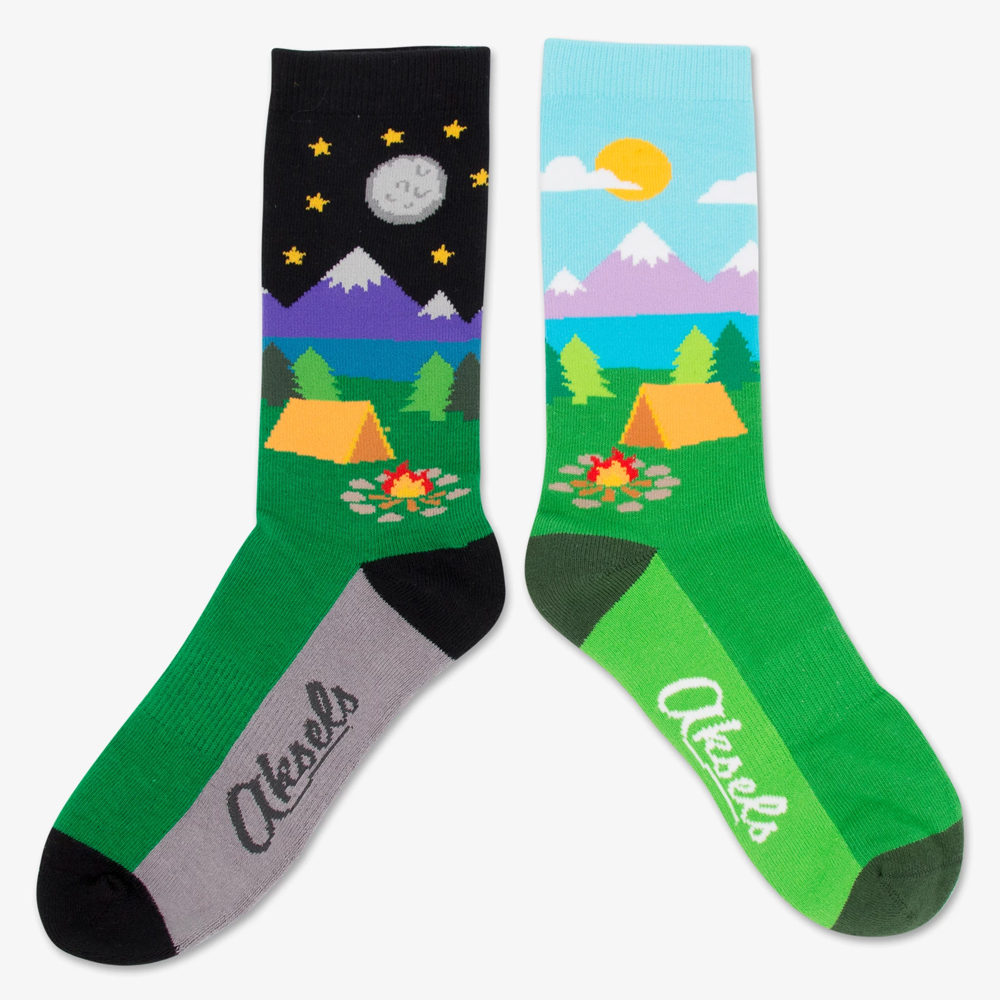 Image For Camping Day and Night Socks by Aksels