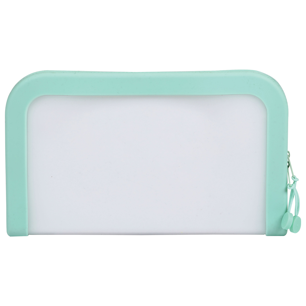 Image For Mint Green Silicone Zip Pocket by Pendaflex