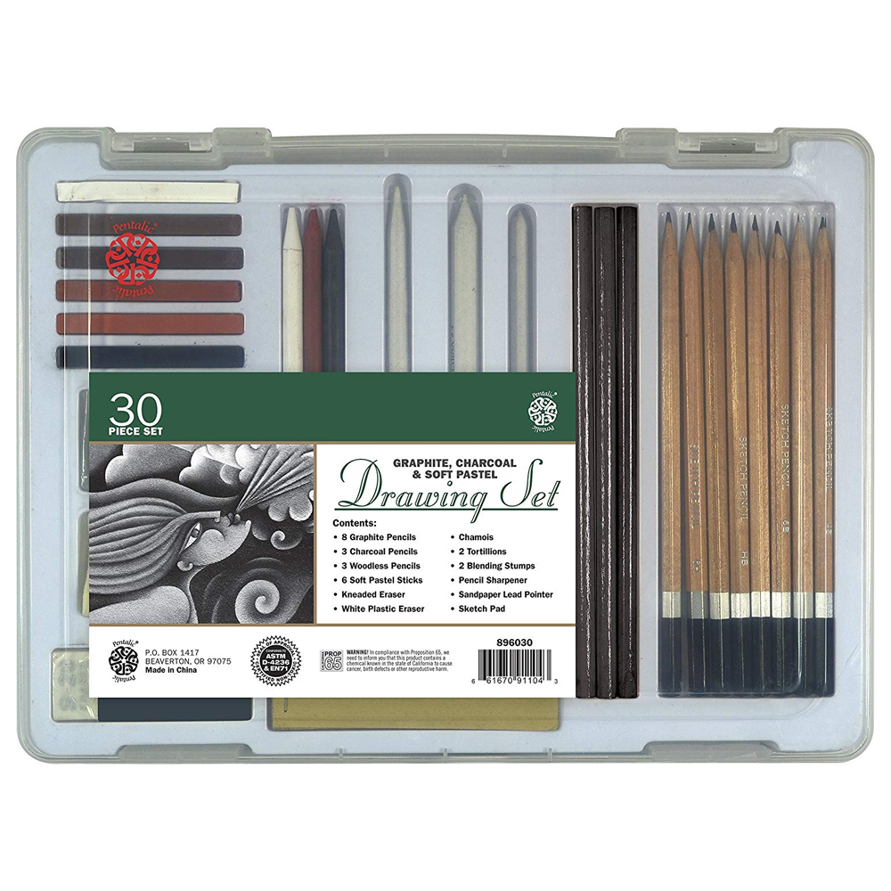 Image For 30 Piece Drawing Set by Pentalic