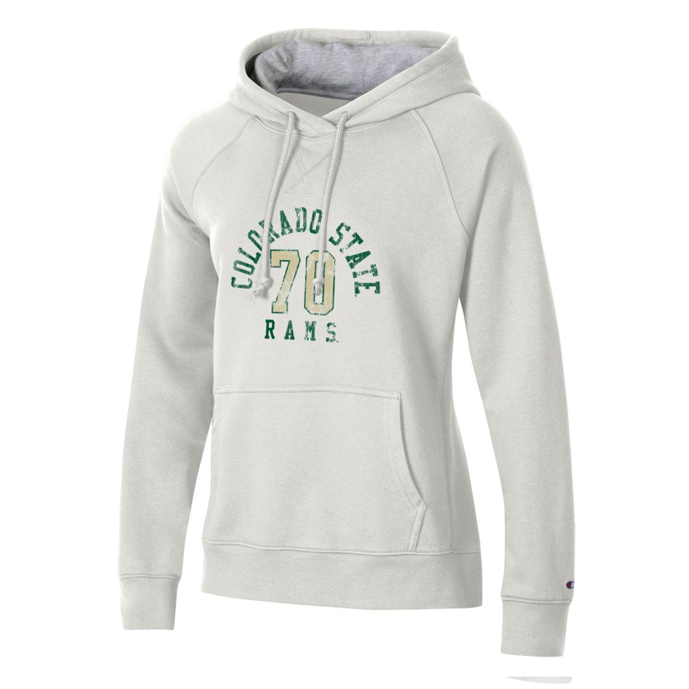Image For White Colorado State 70 Hoodie by Champion