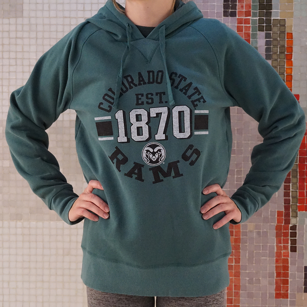 Image For Washed Forest Green Colorado State Hoodie by Outta Town