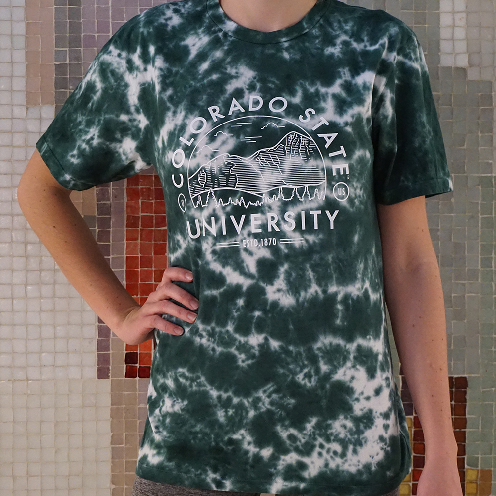 Image For Green Colorado State Tie Dye Short Sleeve by Uscape