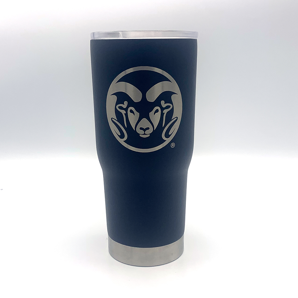 Image For CSU Rams Matte Black 22Oz Tumbler