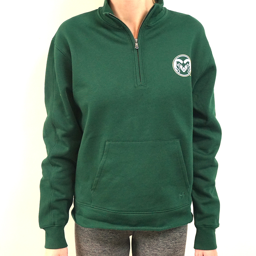 Image For CSU Rams Green Fleece 1/4 Zip by Under Armour