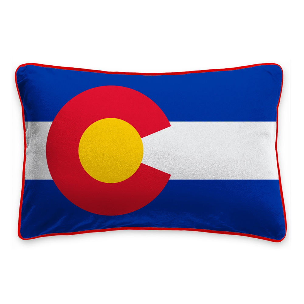 "Cover Image For 14"" X 22"" Colorado State Flag Pillow by League"