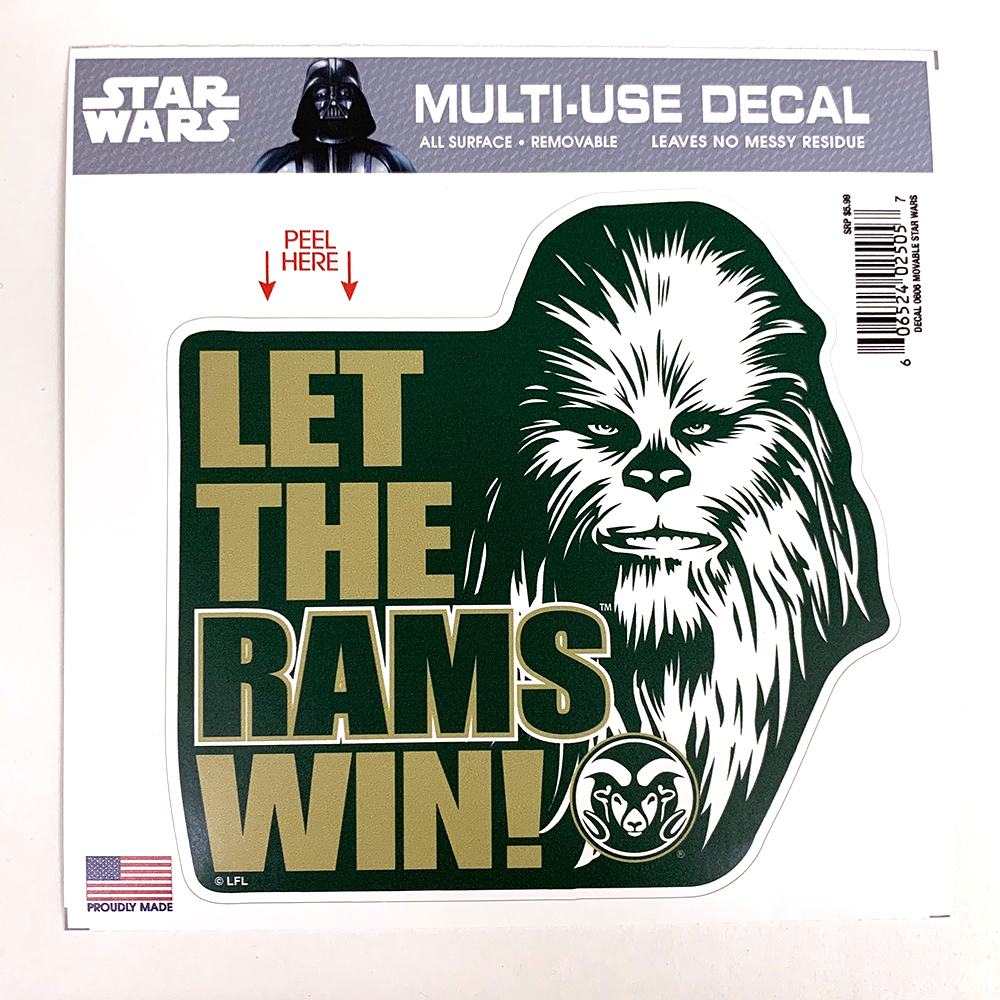 "Image For Star Wars + CSU Chewbacca 6"" x 6"" Multi-Use Decal"