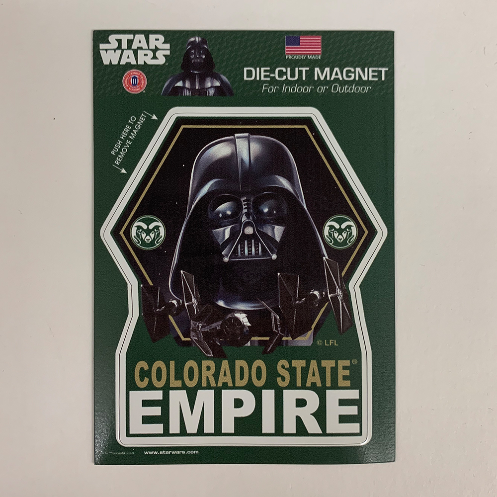 Image For Star Wars + CSU Darth Vader Colorado State Empire Magnet