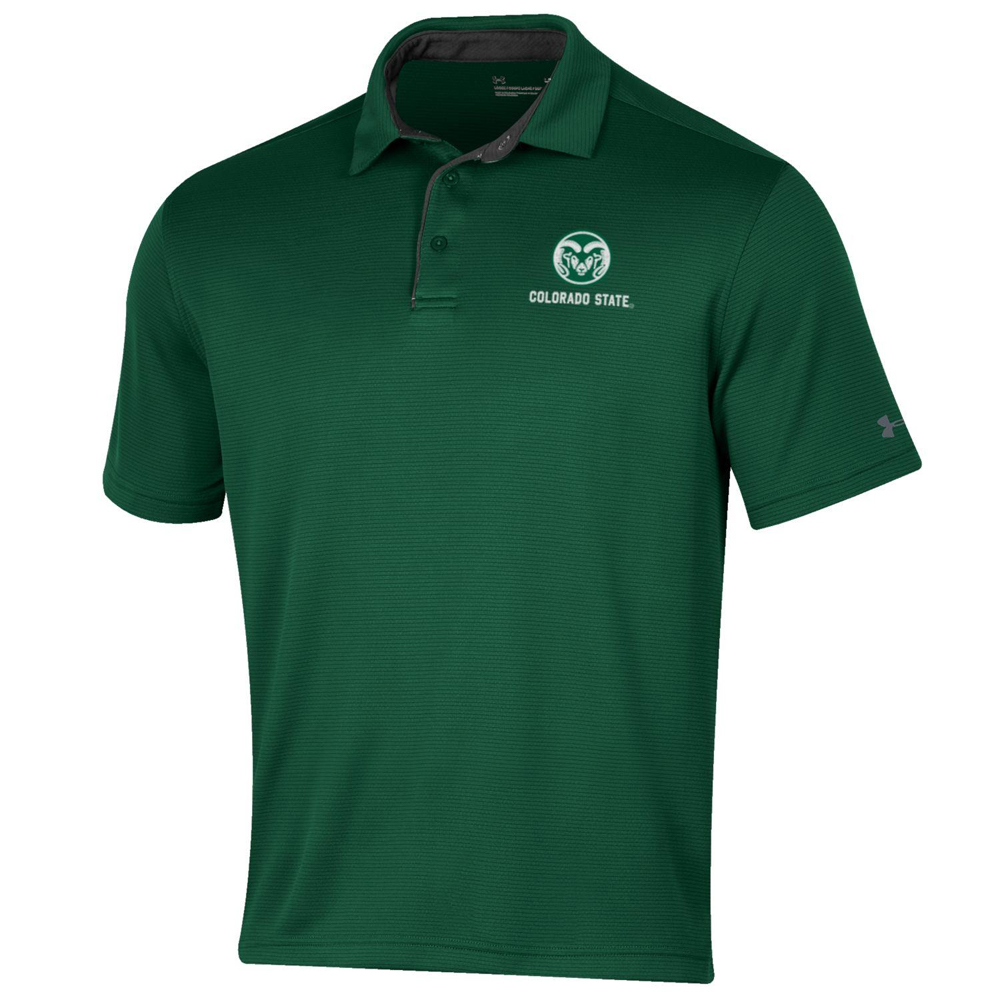 Image For Green Colorado State UA Tech Polo by Under Armour