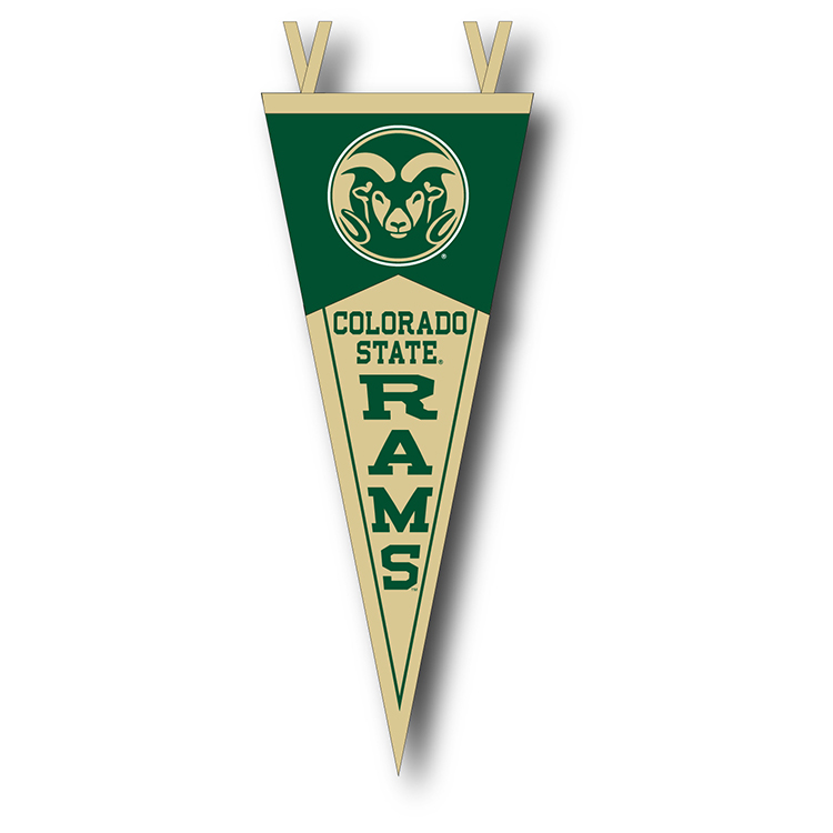 Image For Colorado State University Ram Head Pennant